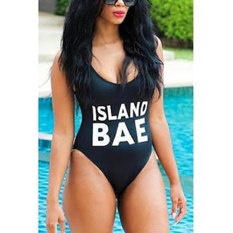 swimwear bikini black quote on it tumblr instagram cool white sexy top bodysuit