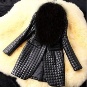 coat,jacket,black,top,girl,girly,cute,elegant,fashion,style,fur coat,zip,outfit,fall sweater,fall outfits,winter coat,winter outfits