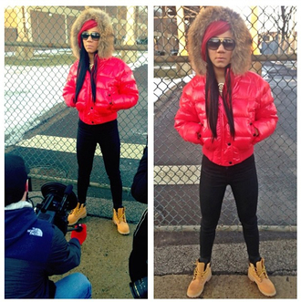 jacket rap puffer jacket fur chiraq chicago hip hop tumblr trill gangsta shoes