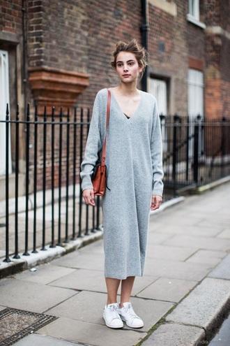 dress grey grey sweater grey dress sweater sweater dress knitwear long dress