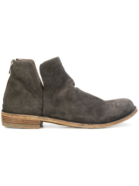 OFFICINE CREATIVE women leather suede grey shoes