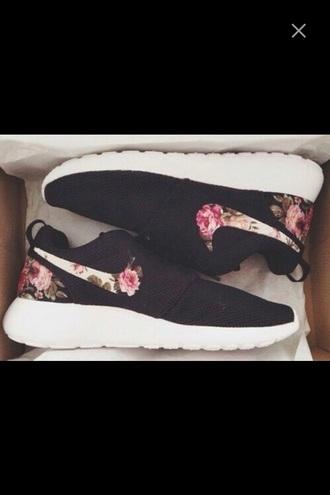 shoes nike trainers nike roshes floral nike roshe run nike roshe run floral