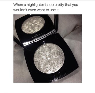 make-up silver makeup highlighter