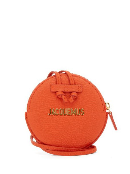 purse leather orange bag