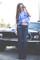 70s bell bottom jeans in dark denim