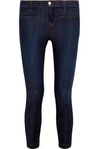 jeans skinny jeans cropped denim dark