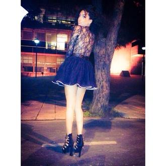 underwear bodysuit black skirt