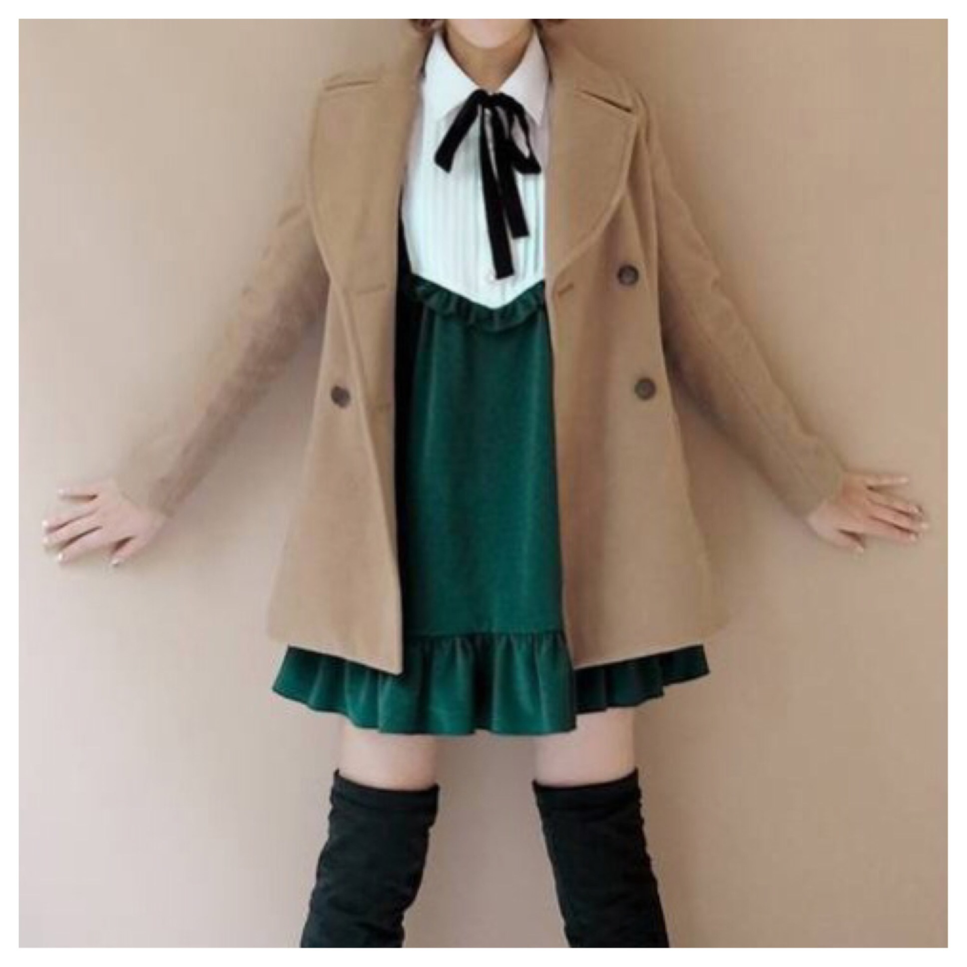 Free shipping! cute turn collar wool jacket from doublelw on storenvy