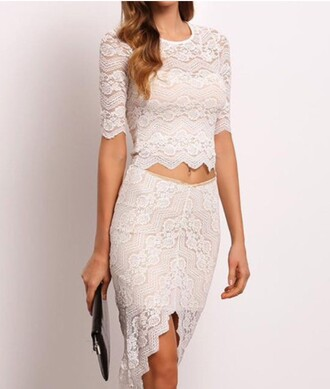 dress lace girly girl girly wishlist two-piece two piece dress set