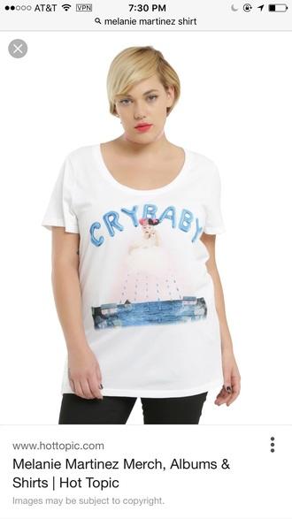 shirt melanie martinez crybaby white t-shirt