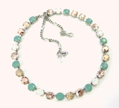 jewels,necklace,opalnecklace,opal necklace,mint,sea foam green,elegant jewelry,sparkle,shimmer,bling,trendy,classic,fancy neckalce,fancy necklace,white opal,pacific opal,wedding jewelry,bridesmaids gift,swarovski,gifts for her,classy,bridesmaid,siggy jewelry