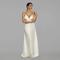 Off - white long silk dress. beach wedding dress. bridesmaid dress. boho wedding dress. special occasion dress. vacation dress. resort dress