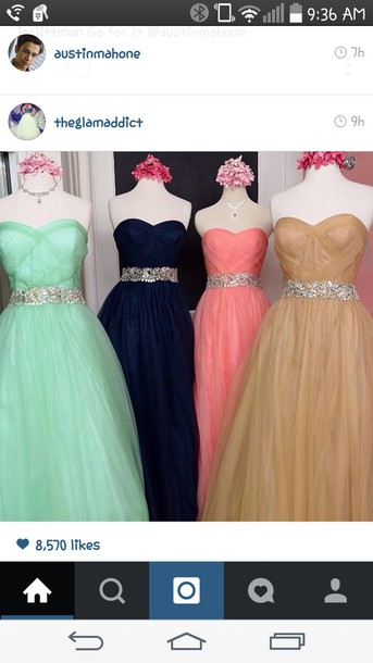 dress mint green prom dress lace stapless dress dark blue dress pink dress long prom dress