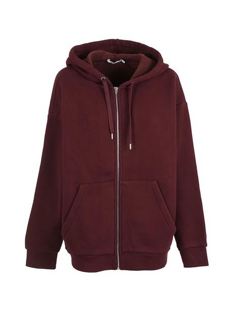 Alexander Wang hoodie burgundy sweater