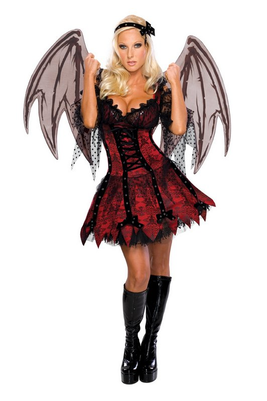SALE! Adult Sexy Gothic Vampire Fairy Ladies Halloween Party Fancy Dress Costume | Amazing Shoes UK