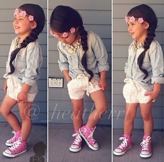 hair accessory girl toddler kids fashion girly converse flower crown