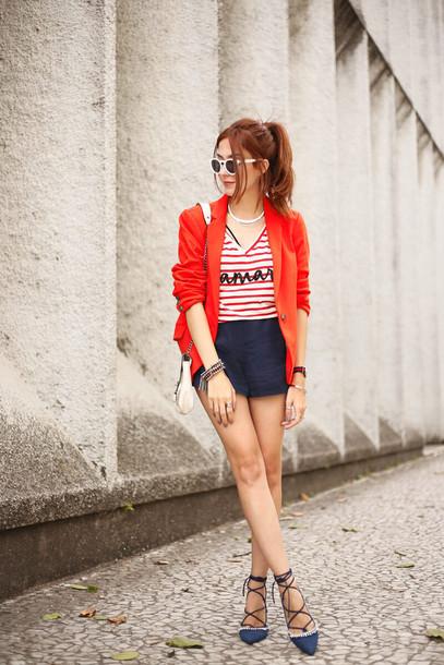 fashion coolture blogger t-shirt jacket shorts