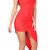 Mya Red Drape Dress | Emprada