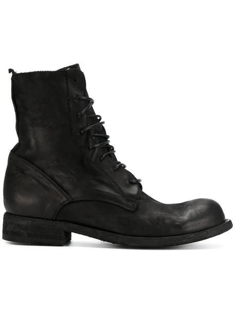 OFFICINE CREATIVE horse women leather black shoes