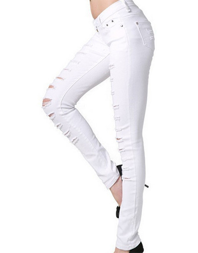 Up ripped rippes cotton pants jeans kylie jenner kim kardashian