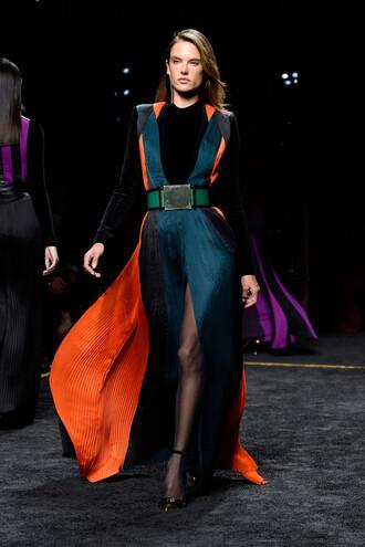 dress alessandra ambrosio fashion week 2015