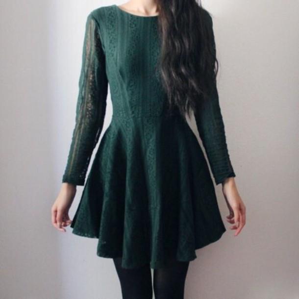 Dress Green Emerald Green Dress Sweater Green Dress Emerald