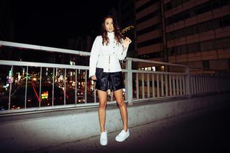 fashion toast jacket skirt shoes red lime sunday