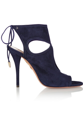 sexy sandals suede navy shoes