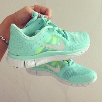 shoes nike turquoise