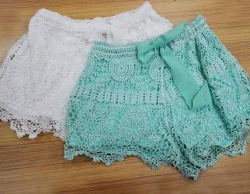 Gorgeous Lace Shorts, Fashionable L..