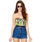 Tropics feather print bustier balconet top · love, fashion struck ·