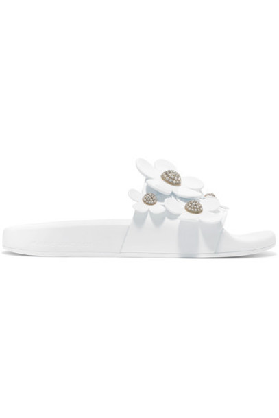 Marc Jacobs floral white shoes