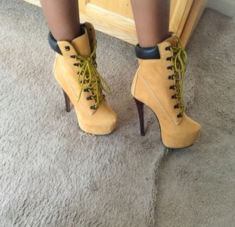shoes fsjshoes timberlands timberland timberland heels tumblr instagram classy fall outfits fall colors fashion girly style style me heels heel boots stilettos ankle boots autumn/winter casual sexy chic casual chic trendy