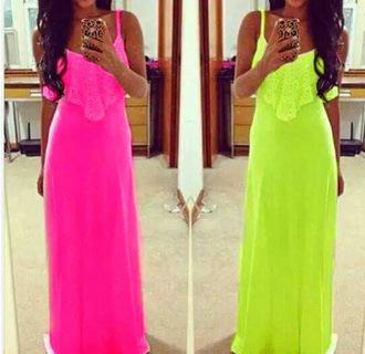 dress beach neon