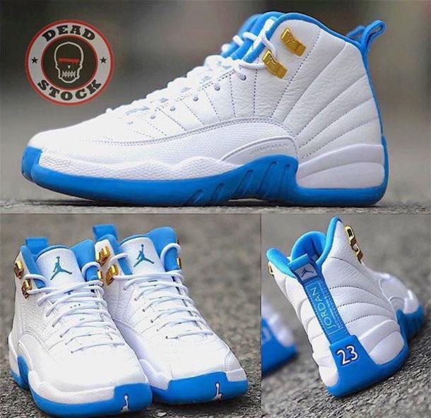 6781b19802deec shoes jordans high top sneakers white sneakers jordan s shoes blue light  blue white