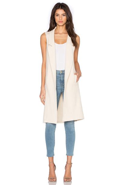 Fine Collection jacket sleeveless cream