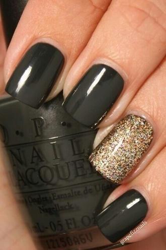 nail polish dark grey nailpolish gold nailpolish black nail polish