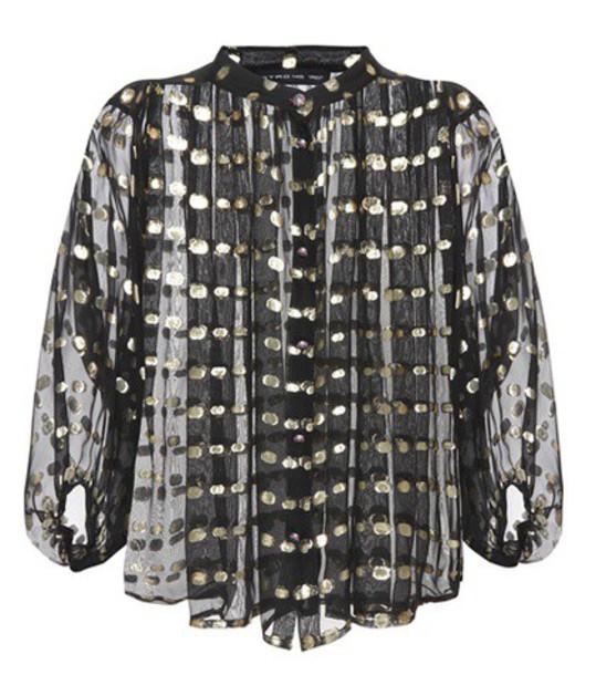 ETRO blouse silk black top