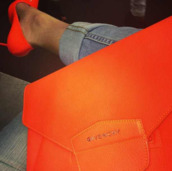 bag,tangerine,givenchy,orange,shoes