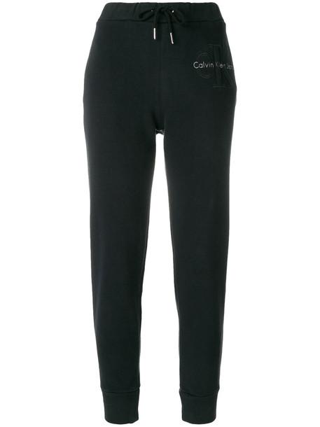 Calvin Klein sweatpants women cotton black pants