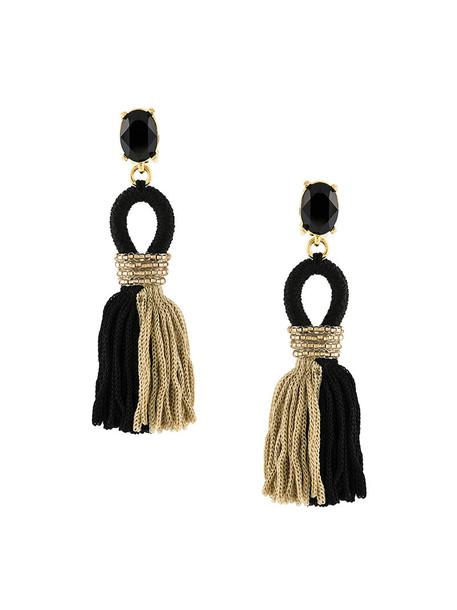 oscar de la renta tassel women embellished earrings black jewels