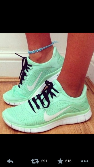 sneakers running shoes nike running shoes mint mint sneakers anklet trainers green sneakers shoes nike shoes