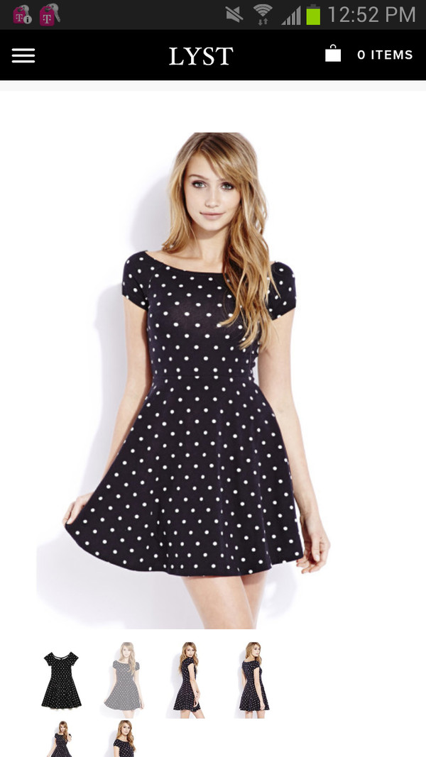 dress black retro dots skater dress polka dots dress