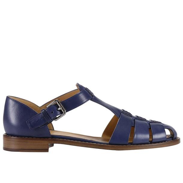 Churchs sandals shoes women sandals shoes flat sandals blue