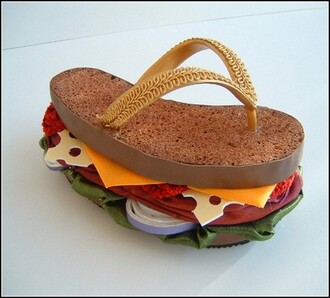 food shoes fast food thongs