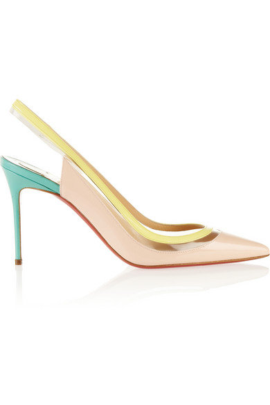 Christian Louboutin | Paulina 85 patent-leather and PVC pumps | NET-A-PORTER.COM