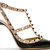 Valentino - *Black & Taupe Leather Rockstud Slingbacks | SSENSE