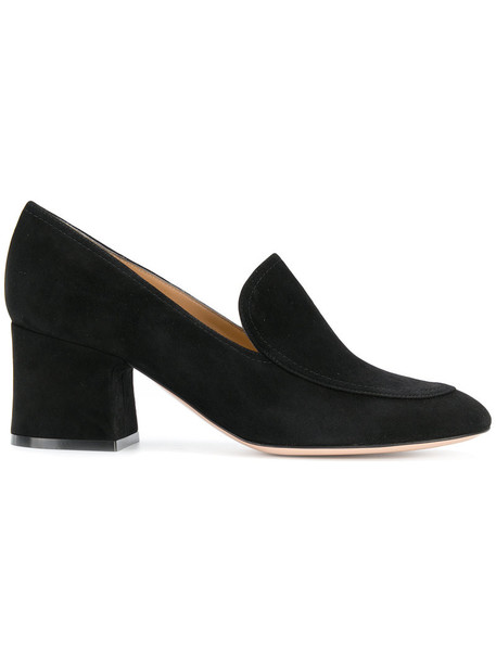 women shoes leather suede black