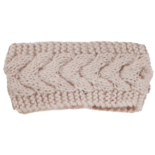 Oatmeal Cable Knit Headband - Polyvore