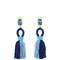 Short tassel-drop clip-on earrings